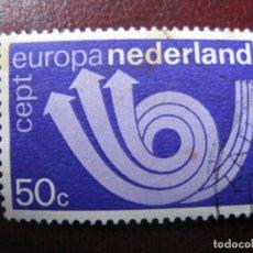 Sellos: +HOLANDA, 1973, EUROPA, YVERT 983. Lote 221815503