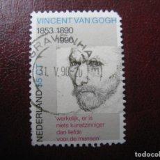 Sellos: +HOLANDA, 1990, CENTENARIO MUERTE DE VINCENT VAN GOGH, YVERT 1347. Lote 221817363