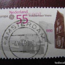 Sellos: +HOLANDA, 1990, EUROPA, YVERT 1355. Lote 221817656