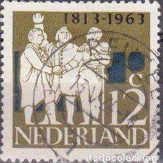 Sellos: 1963 - HOLANDA - 150º ANIVESARIO DE LA INDEPENDENCIA - YVERT 789. Lote 221942431