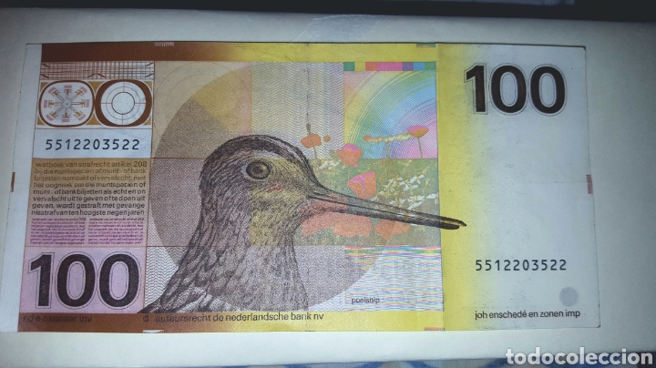 Sellos: BILLETE HOLANDA : 100 Florines 1977 - Foto 2 - 223811067