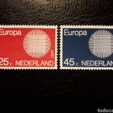 Sellos: HOLANDA YVERT 914/5 SERIE COMPLETA NUEVA ***. EUROPA CEPT 1970.. Lote 224636515