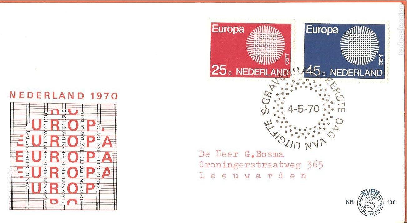 SPD -FDC HOLANDA, TEMA EUROPA 1970 (Sellos - Extranjero - Europa - Holanda)