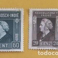 Sellos: 2 SELLOS HOLANDA INDIE AÑO 1925. 2O Y 60 CENT. NDIAS ORIENTALES HOLANDESAS, USADOS.. Lote 235080505