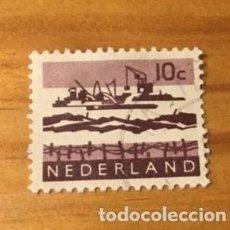Sellos: SELLO NEDERLAND BARCO 1960 10 C. USADO. Lote 235131515