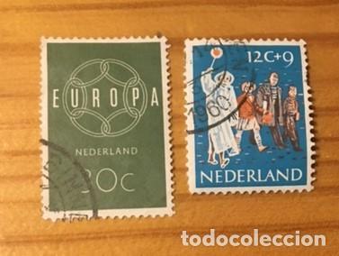 2 SELLOS NEDERLAND, USADOS, AÑOS 60 (Sellos - Extranjero - Europa - Holanda)