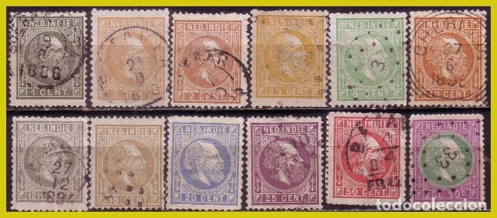 INDIAS HOLANDESAS, 1870 GUILLERMO III, IVERT Nº 3 A 15, SIN 13 (O) (Sellos - Extranjero - Europa - Holanda)