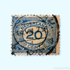 Sellos: SELLO POSTAL PAISES BAJOS HOLANDA 1921, 20 C, NÚMERO 20 EN OVALO, TIPO DE NÚMERO 'VÜRTHEIM' ,USADO. Lote 244696475