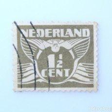 Sellos: SELLO POSTAL PAISES BAJOS HOLANDA 1941, 1 1/2 C, PALOMA Y NÚMERO,USADO. Lote 244698280