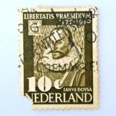 Sellos: SELLO POSTAL PAISES BAJOS HOLANDA 1950, 10 C, UNIVERSIDAD DE LEIDEN, INAVS DOVSA ,USADO. Lote 244714965