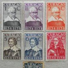 Sellos: 1934. CURAÇAO - HOLANDA. 100, 101, 102, 104, 105, 106, 108. TRICENTENARIO COLONIA HOLANDESA. USADO.. Lote 245445020