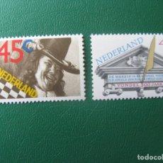 Sellos: HOLANDA, 1979, 300 ANIVERSARIO DE JOOST VAN DEN VONDEL Y JAN STEEN, YVERT 1116/7. Lote 245547065