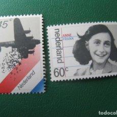 Sellos: HOLANDA,1980, EN RECUERDO DE LOS AÑOS DE OCUPACION Y LIBERACIÓN, YVERT 1129/30. Lote 245547540