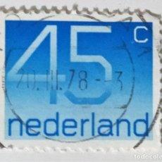 Sellos: SELLO DE HOLANDA 45 C- 1976 - NUMEROS - USADO SIN SEÑAL DE FIJASELLOS. Lote 245557370