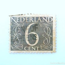 Sellos: SELLO POSTAL PAISES BAJOS HOLANDA 1954, 6 C, NÚMERO 6 , USADO. Lote 246205895