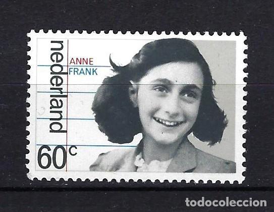 1980 PAÍSES BAJOS MICHEL 1159 YVERT 1130 ANA FRANK MNH** NUEVO SIN FIJASELLOS (Sellos - Extranjero - Europa - Holanda)