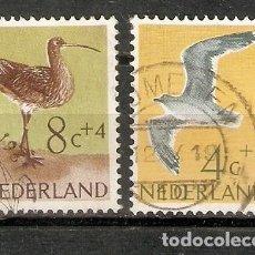 Sellos: HOLANDA.1961. PÁJAROS. AVES. Lote 260041635