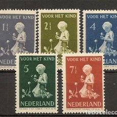 Sellos: HOLANDA YVERT 365/369* MH SERIE COMPLETA 5 VALORES 1940 NL199. Lote 261687465