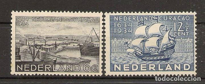 HOLANDA YVERT 265/266 (*) MNG SERIE COMPLETA 2 VALORES CURAÇAO 1934 NL232 (Sellos - Extranjero - Europa - Holanda)