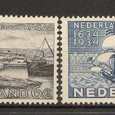 Sellos: HOLANDA YVERT 265/266 (*) MNG SERIE COMPLETA 2 VALORES CURAÇAO 1934 NL232. Lote 261693085