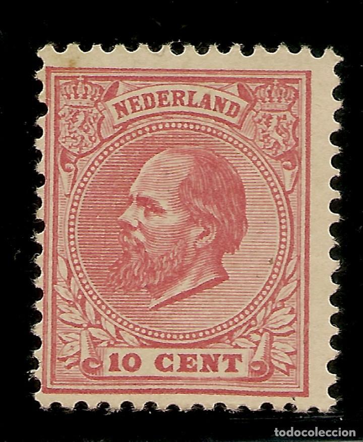 HOLANDA YVERT 21* MH CTS. ROSÉ GUILLERMO III 1872/1888 NL366 (Sellos - Extranjero - Europa - Holanda)