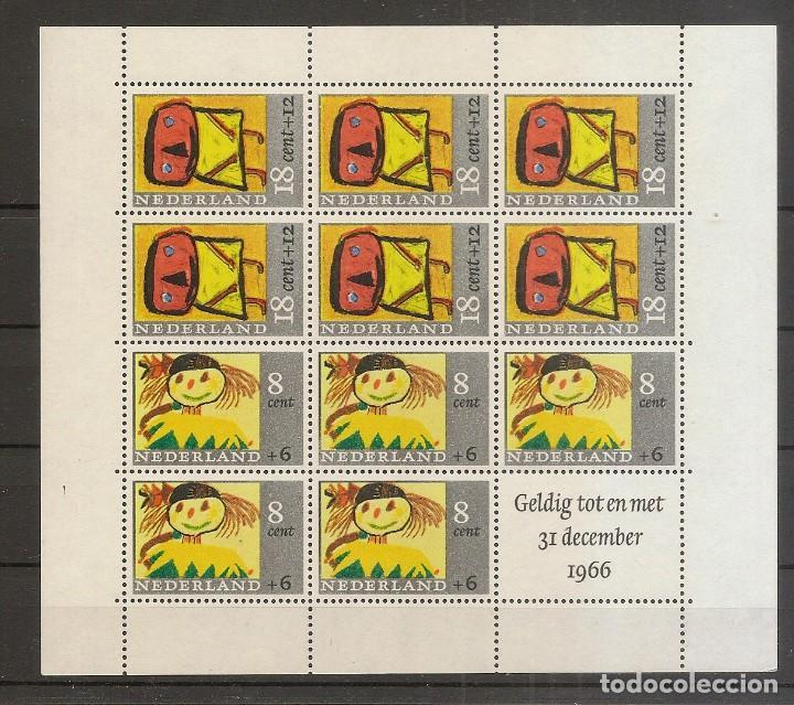 HOLANDA BLOQUES Y HOJAS 3 * MH SERIE COMPLETA BENEFICENCIA 1965 NL397 (Sellos - Extranjero - Europa - Holanda)