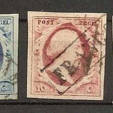 Sellos: HOLANDA YVERT 1/3 (º) SERIE COMPLETA 3 VALORES GUILLERMO III 1852 NL519. Lote 261699500