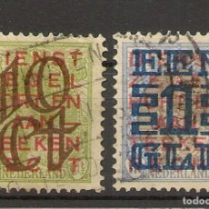 Sellos: HOLANDA YVERT 129/130 (º) SERIE COMPLETA 1923 NL556. Lote 261836085