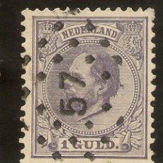 Sellos: HOLANDA YVERT 28 (º) 1 GULD VIOLETA 1872/1888 NL558. Lote 261840325