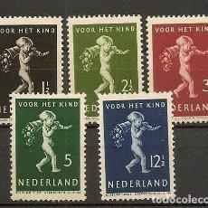 Sellos: HOLANDA YVERT 327/331* MH SERIE COMPLETA 5 VALORES PRO INFANCIA 1939 NL561. Lote 261903205