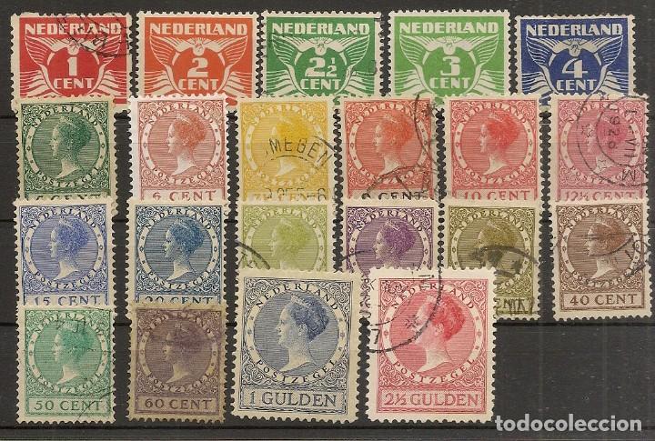 HOLANDA YVERT 133/152A (*)/(º) SERIE CORTA 21 VALORES 1924/1927 NL591 (Sellos - Extranjero - Europa - Holanda)