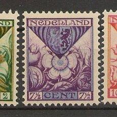 Sellos: HOLANDA YVERT 162/164* MH SERIE COMPLETA 3 VALORES 1925 NL600. Lote 261910570