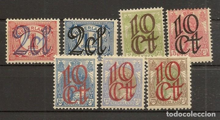 HOLANDA YVERT 111/117* MH SERIE COMPLETA 7 VALORES 1923 NL615 (Sellos - Extranjero - Europa - Holanda)