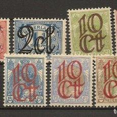 Sellos: HOLANDA YVERT 111/117* MH SERIE COMPLETA 7 VALORES 1923 NL615. Lote 261915920