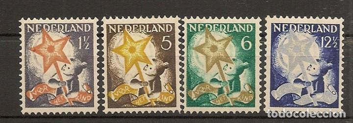 HOLANDA YVERT 259/262* MH SERIE COMPLETA PRO INFANCIA 1933 NL732 (Sellos - Extranjero - Europa - Holanda)