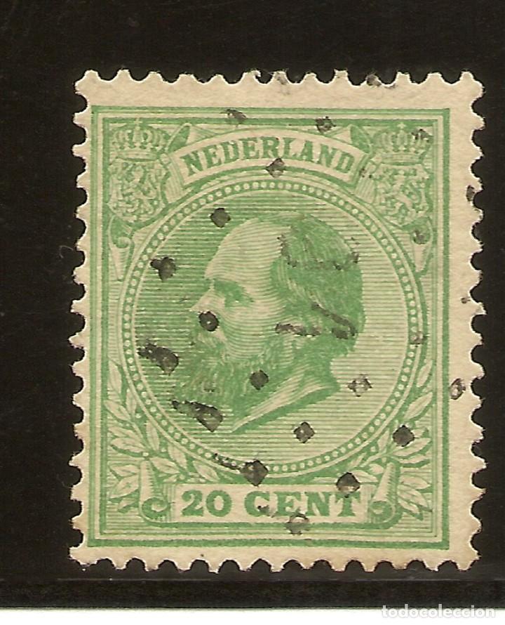 HOLANDA YVERT 24 (º) 2 CTS. VERDE 1872/1888 NL736 (Sellos - Extranjero - Europa - Holanda)
