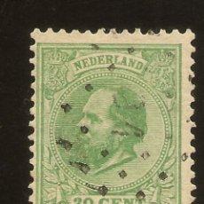 Sellos: HOLANDA YVERT 24 (º) 2 CTS. VERDE 1872/1888 NL736. Lote 261987630