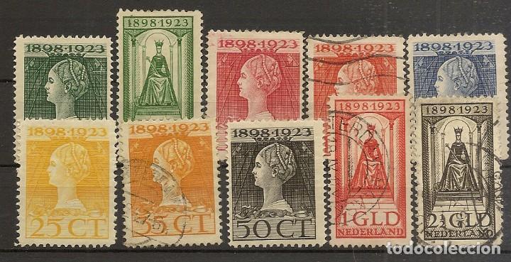 HOLANDA YVERT 118/127 */(º) SERIE CORTA 10 VALORES 1923 NL794 (Sellos - Extranjero - Europa - Holanda)