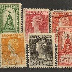 Sellos: HOLANDA YVERT 118/127 */(º) SERIE CORTA 10 VALORES 1923 NL794. Lote 261989210