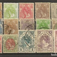 Sellos: HOLANDA YVERT 49/62 (º) SERIE CORTA 15 VALORES 1898/1923 NL813. Lote 262034030