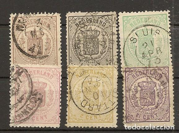 HOLANDA YVERT 13/18 (º) SERIE COMPLETA GUILLERMO III 1869/1871 NL853 (Sellos - Extranjero - Europa - Holanda)