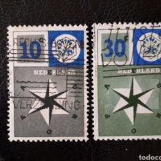 Sellos: HOLANDA YVERT 678/9 SERIE COMPLETA USADA 1957 EUROPA CEPT PEDIDO MÍNIMO 3€. Lote 262767365