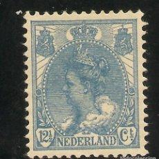 Sellos: HOLANDA YVERT 0054* MH 12 1/2 CTS. AZUL 1898/1923 NL1616. Lote 262856460