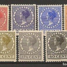 Sellos: HOLANDA YVERT 209/214 */(*) SERIE COMPLETA 7 VALORES 1928/1931 NL1630. Lote 262857550