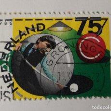 Sellos: HOLANDA 1986. BILLAR. Lote 263164110