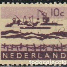 Sellos: HOLANDA 1963 SCOTT 400 SELLO º TRABAJOS EN EL DELTA BARCOS GRUAS MICHEL 800YXA YVERT 761A NEDERLAND. Lote 267501984