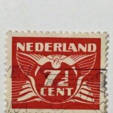 Sellos: SELLO DE HOLANDA 7 1/2 C - 1941 - NUMEROS - USADO SIN SEÑAL DE FIJASELLOS. Lote 268603699
