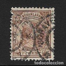 Sellos: HOLANDA - CLÁSICO. YVERT Nº 36 USADO Y DEFECTUOSO. Lote 269002564