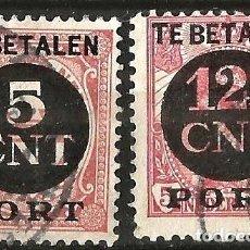 Sellos: TE BETALEN PORT - 1921 - 2 VALORES - USADOS. Lote 277100548