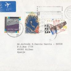 Sellos: CORREO AEREO: HOLANDA 1990. Lote 277219328